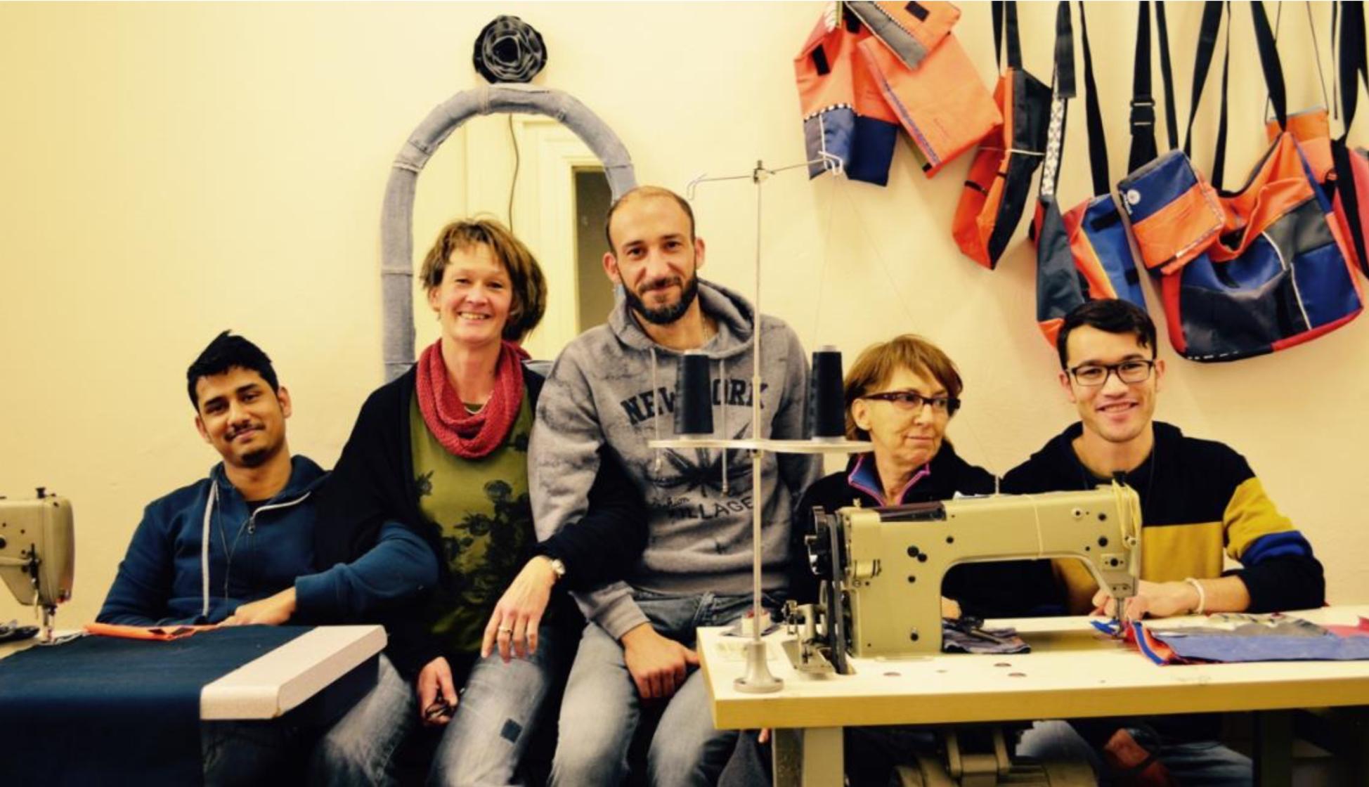 Safe Passages bags Lesvos Design for migration