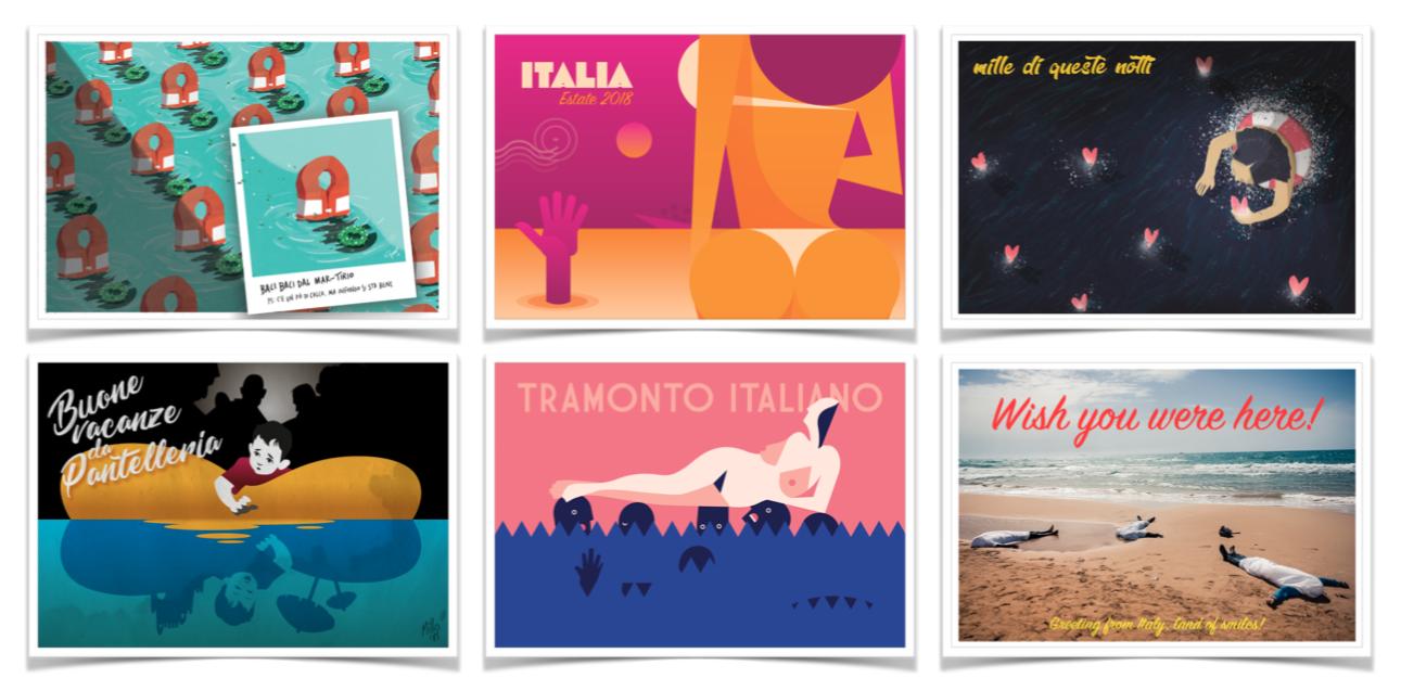 solo in cartolina design for migration